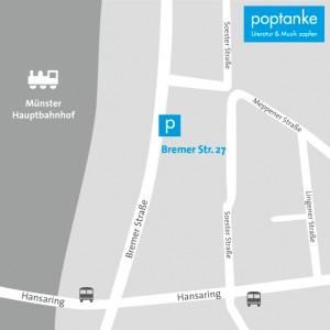 Lageplan Laden poptanke Bremer Str. 27 in 48155 Münster